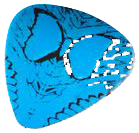 Borboletta guitar pick graphic